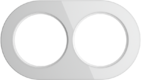 Рамка на 2 поста, WL21-frame-02 Ретро - белый, Werkel Favorit Runda