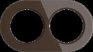 Рамка на 2 поста, WL21-frame-02 Ретро - коричневый, Werkel Favorit Runda