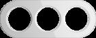 Рамка на 3 поста, WL21-frame-03 Ретро - белый, Werkel Favorit Runda