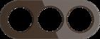 Рамка на 3 поста, WL21-frame-03 Ретро - коричневый, Werkel Favorit Runda
