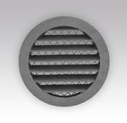 Решетка вентиляционная круглая c сеткой D125 с фланцем D100