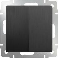 Выключатель проходной 2 кл, WL04-SW-2G-2W - графит рифленый, Werkel