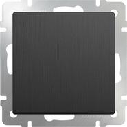 Выключатель проходной 1 кл, WL04-SW-1G-2W - графит рифленый, Werkel