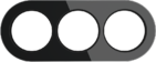 Рамка на 3 поста, WL21-frame-03 Ретро - черный, Werkel Favorit Runda