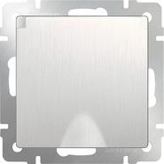 Розетка влагозащищенная с заземлением, крышкой, шторками, WL13-SKGSC-01-IP44 - перламутровый рифленый, Werkel