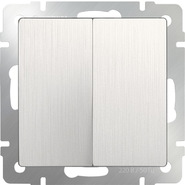 Выключатель 2 кл, WL13-SW-2G - перламутровый рифленый, Werkel