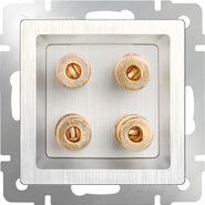 Акустическая розетка, WL13-AUDIOx4 - перламутровый рифленый, Werkel