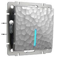 Розетка с заземлением, безвинтовой зажим, WL06-10-01 - серебряный, Werkel
