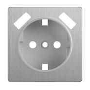 Накладка для розетки USB, WL09-USB-CP - серебряный рифленый, Werkel