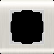 Рамка на 1 пост, WL12-Frame-01 - перламутровый, пластик, Werkel Stream