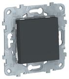Переключатель 1 кл, схема 6, 10 AX, 250 - антрацит, Schneider Unica New