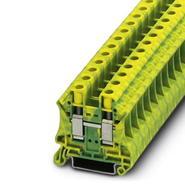 Клемма винтовая 0,5-16мм2 желто-зелёная (10,2мм) Phoenix Contact UT10