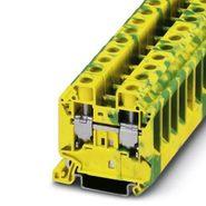 Клемма винтовая 1,5-25мм2 желто-зелёная (12,2мм) Phoenix Contact UT16