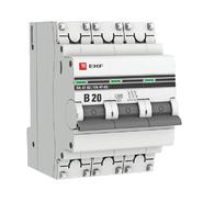 Автоматический выключатель 3P B20 EKF PROxima ВА 47-63