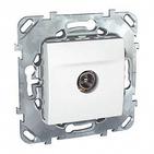 Розетка телевизионная TV проходная в рамку белая Schneider Electric/Unica MGU5.463.18ZD
