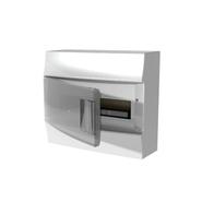 Бокс настенный 12 мод, белый, темная прозрачная дверь, с клеммами ABB Mistral IP41