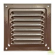 Решетка вентиляционная с покрытием полимерной эмалью, с сеткой 150х150 (коричневая)