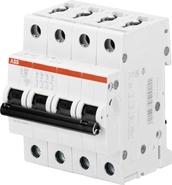 ABB S204 Автоматический выключатель 4P 25A (C) 6kA (2CDS254001R0254)