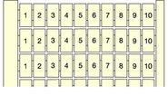 Маркировка клемм горизонтальная (1...10) RC610 ABB (3030R2600)