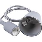 Патрон 60x45мм, провод 1м, 230V, E27, 120*80, LH127 - серый, Feron