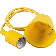 Патрон 60x45, провод 1м, 230V, E27, LH127 - желтый, Feron