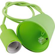 Патрон 60x45, провод 1м, 230V, E27, LH127 - зеленый, Feron