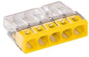 Клемма компактная 5 х 0,5-2,5 мм Cu без пасты Wago 2273-205