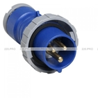 ABB Вилка кабельная 16А 2Р+E IР67 переносная 250В CEWE (216 P6W)