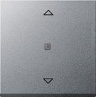 Накладка клавиши управления жалюзи, алюминий, Gira System 55 (232826)