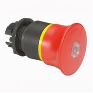"""Osmoz Головка """"тяни-толкай"""" с грибовидным толкателем D=40 красная EN с подсветкой Legrand Osmoz  (24082)"""