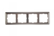 Рамка четырехместная, шампань, Schneider Electric, Wessen 59