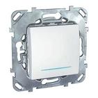 Переключатель одноклавишный с индикацией в рамку белый Schneider Electric/Unica MGU5.203.18NZD