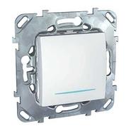 Выключатель одноклавишный с индикацией в рамку белый Schneider Electric/Unica MGU5.201.18NZD