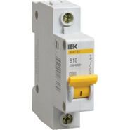 2,5A C 4.5kA 1P. Выключатель автоматический однополюсный ВА47-29 IEK (MVA20-1-D25-C)