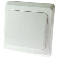 ЭТЮД Выключатель кнопочный одноклавишный белый (KC10-001B)