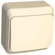 ЭТЮД Выключатель кнопочный наружный бежевый (KA10-001K)
