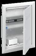Шкаф мультимедийный с дверью с вентиляционными отверстиями и DIN-рейкой UK620MV (2 ряда) - ABB