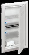 Шкаф мультимедийный с дверью с вентиляционными отверстиями и DIN-рейкой UK630MV (3 ряда) - ABB