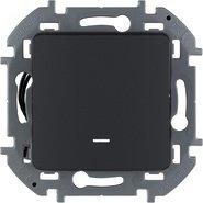 Переключатель проходной 1 кл с подсветкой, 10 AX, 250 В - антрацит INSPIRIA 673663