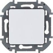 Переключатель проходной без фиксации (кнопка), Н.О./Н.З. контакт, 6 A, 250 В - белый INSPIRIA 673690