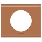 Legrand Celiane Одноместная рамка (кожа крем-карамель)