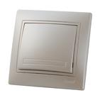 Выключатель одноклавишный Жемчужно-белый металик Lezard MIRA