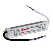 30W IP67 Трансформатор влагозащищенный 12V 160*30*20мм Eleganz (1201)