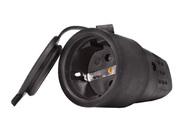 Розетка переносная 2P+E 1х16А каучук 220V IP44 Lezard (0400-102)