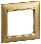 Рамка 1 пост (одноместная) Legrand Valena Матовое Золото