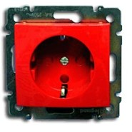 Розетка Legrand Valena с заземлением Красная 774327