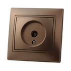 Розетка телевизионная оконечная Светло-коричневый металлик Lezard MIRA
