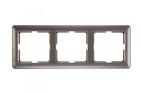 Рамка трехместная, шампань, Schneider Electric, Wessen 59