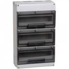 32 модуля Бокс настенного монтажа ЩРн-П-32 IP66 пластиковый белый прозрачная дверь IEK MKP73-N-32-66