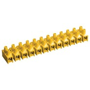 Клемма винтовая ЗВИ-3 1,0-2,5 мм.кв. 12пар желтая